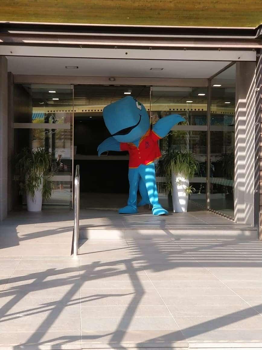 Mascota Publicitaria Hoteles Mediterráneo Ballenita